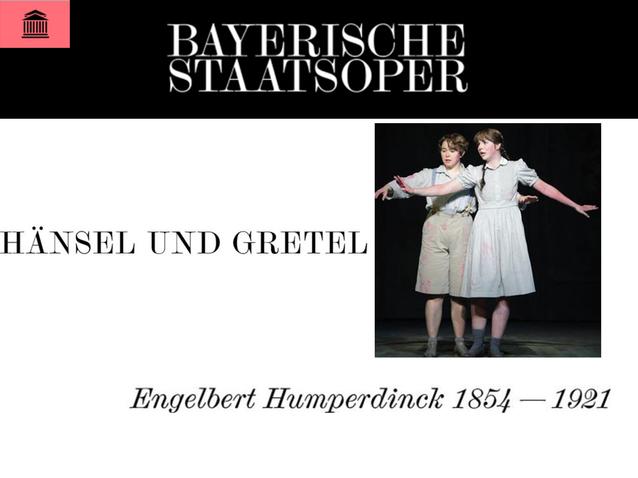 Hänsel und Gretel - Bayerische Staatsoper (2017) (Produktion - Münich,  deutschland) | Opera Online - Die Website für Opernliebhaber