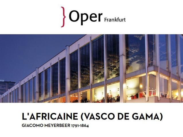 huge discount outlet store sale best choice L'Africaine - Oper Frankfurt (2018) (Produktion - Frankfurt ...