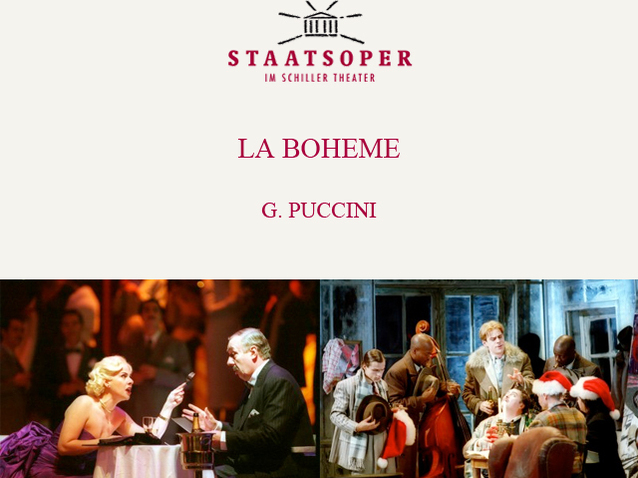 La Bohème Staatsoper Berlin 2013 Produktion Berlin